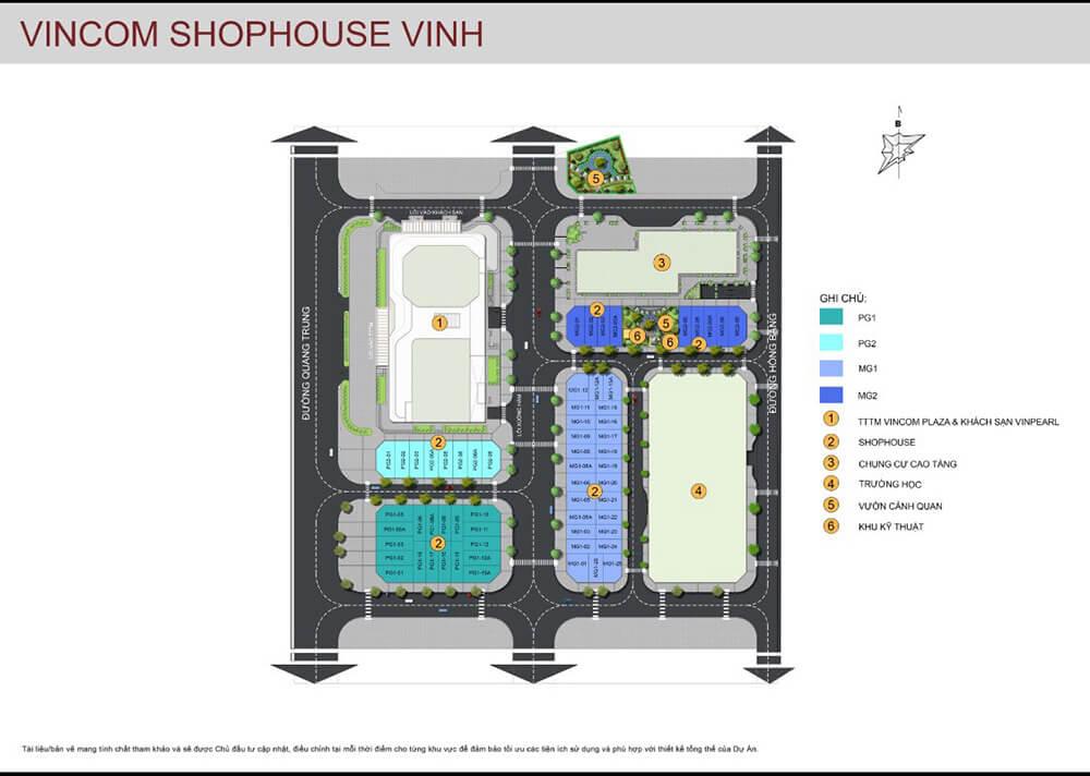 Toàn cảnh dự án Vincom shophouse Vinh